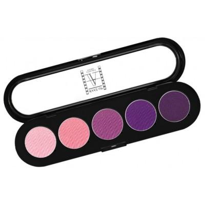 Палитра теней, 5 цветов Make-Up Atelier Paris T09 розово-фиолетовые тона: фото