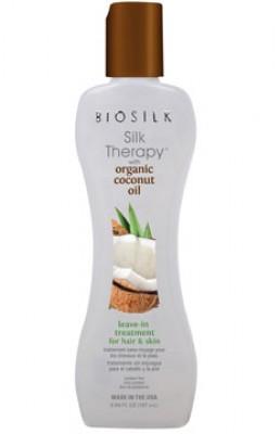 Несмываемое средство BIOSILK Silk Therapy с органическим кокосовым маслом для волос и кожи, 15 мл: фото