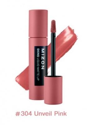 Помада матовая жидкая MIZON Skins Liquid Matte Lip №304 Unveil Pink: фото