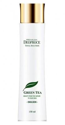 Эмульсия с зеленым чаем DEOPROCE Premium green tea total solution emulsion 150мл: фото