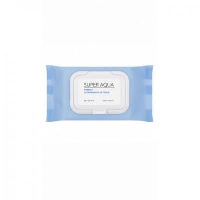 Очищающие салфетки для лица MISSHA Super Aqua Perfect Cleansing Oil In Tissue: фото