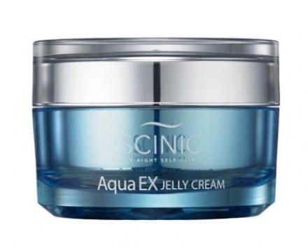 Уважняющий крем-желе с содержанием глубинной морской воды SCINIC Aqua ex jelly cream 100мл: фото