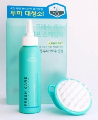 Пилинг для глубокого очищения кожи головы SCINIC Fresh Care Scalp Scaler+ scalp brush 200мл: фото