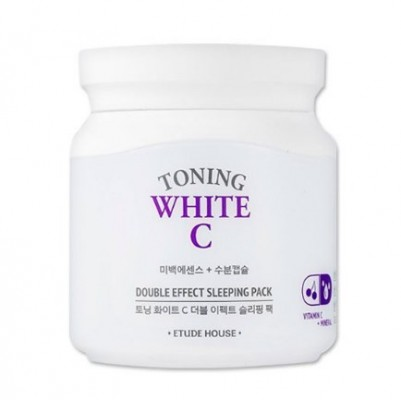 Маска ночная осветляющая ETUDE HOUSE Toning White C Double Effect Sleeping Pack: фото