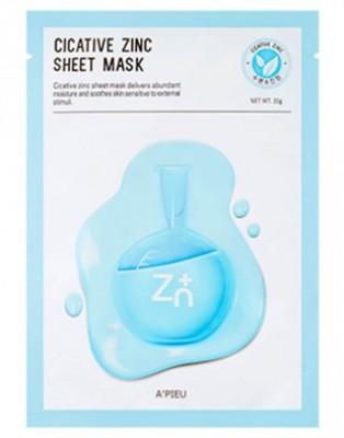 Тканевая маска с цинком A'PIEU Cicative Zinc Sheet Mask: фото