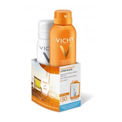Увлажняющий спрей-вуаль SPF50 VICHY 200мл+Термальная вода 50 мл в подарок: фото