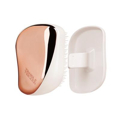 Расческа TANGLE TEEZER Compact Styler Rose Gold Luxe розовое золото/белый: фото