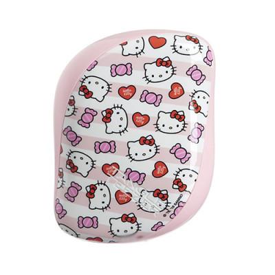 Расческа TANGLE TEEZER Compact Styler Hello Kitty Candy Stripes розовый: фото