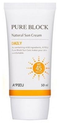 Солнцезащитный крем A'PIEU Pure Block Natural Daily Sun Cream 50мл: фото