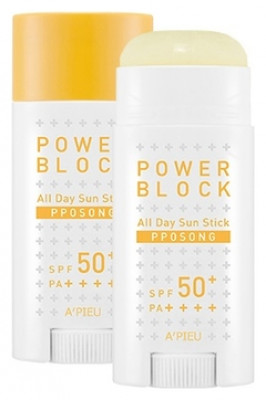 Солнцезащитный стик для лица A'PIEU Power Block All Day Sun Stick Pposong SPF50+/PA++++ 15гр: фото
