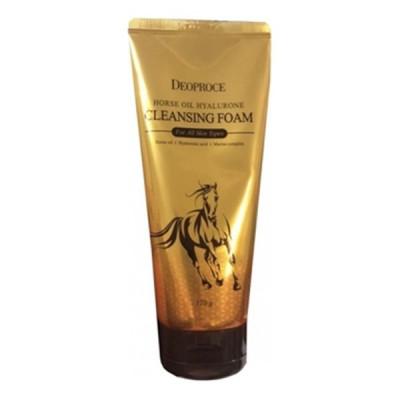 Пенка для умывания с гиалуроновой кислотой и лошадиным жиром Deoproce Horse Oil Hyalurone Cleansing Foam 170гр: фото