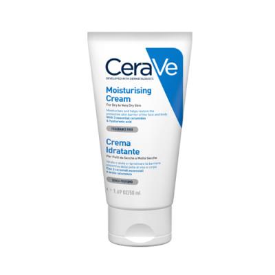 Крем увлажняющий для сухой и очень сухой кожи лица и тела CeraVe 50мл: фото
