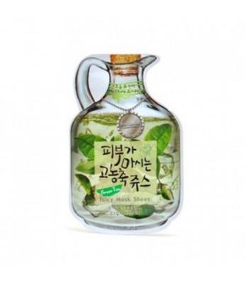 Маска тканевая с зеленым чаем Green Tea Juicy Mask Sheet Moisture & Lifting 23г: фото