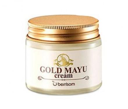 Крем для лица с лошадиным жиром Berrisom Gold Mayu Cream 70г: фото
