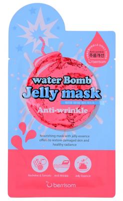 Маска для лица с желе антивозрастная Berrisom water Bomb Jelly mask Anti Wrinkle 33мл: фото