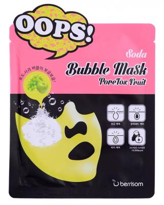Маска пузырьковая для ухода за порами Berrisom Soda Bubble Mask PoreTox Fruit 18мл: фото