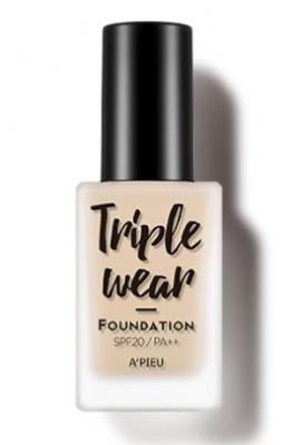 Тональная основа A'PIEU Triple Wear Foundation SPF20 тон 4 Beige 35г: фото