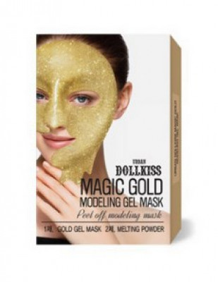 Маска для лица гелевая с золотом Baviphat Urban dollkiss Magic Gold Modeling Gel Mask 50г/5г: фото