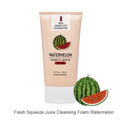 Пенка для умывания ETUDE HOUSE FRESH SQUEEZE JUICE CLEANSING FOAM WATER MELON 150мл: фото