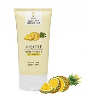 Пенка для умывания ETUDE HOUSE FRESH SQUEEZE JUICE CLEANSING FOAM PINEAPPLE 150мл: фото