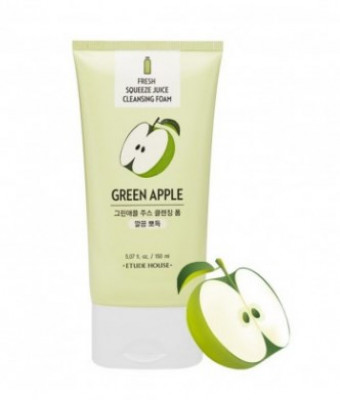 Пенка для умывания ETUDE HOUSE FRESH SQUEEZE JUICE CLEANSING FOAM GREEN APPLE 150мл: фото