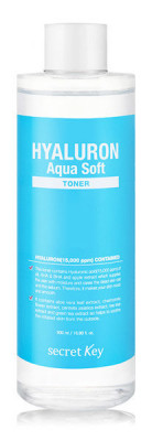 Тонер гиалуроновый SECRET KEY HYALURON Aqua Soft TONER 500 мл: фото