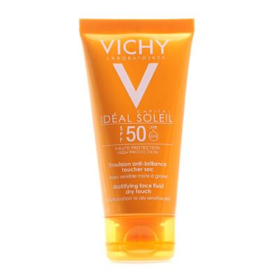 Эмульсия матирующая для лица Vichy Capital Ideal Soleil ДРАЙ ТАЧ SPF50 50мл: фото