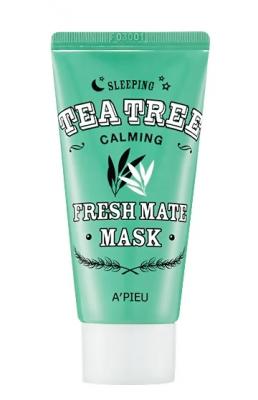 Маска для лица ночная A'PIEU Fresh Mate Tea Tree Mask Calming 50мл: фото