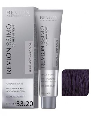 Краска перманентная Revlon Professional Revlonissimo Colorsmetique 33.20 темно-коричневый бургундский 60мл: фото