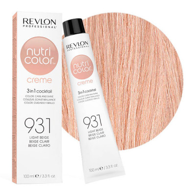 Краска для волос без аммиака Revlon Professional Nutri Color Creme 931 Светло-Бежевый 100мл: фото