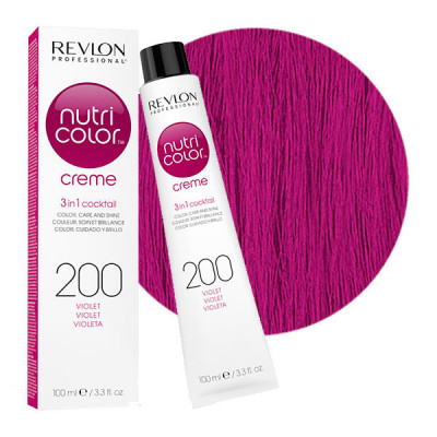 Краска для волос без аммиака Revlon Professional Nutri Color Creme 200 Фиолетовый 100мл: фото