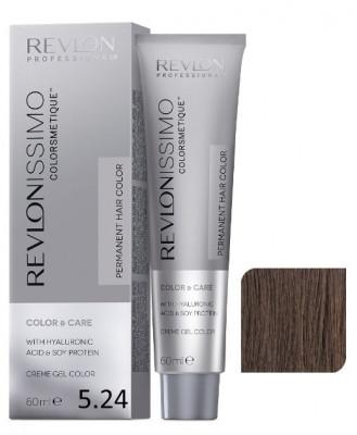 Краска перманентная Revlon Professional Revlonissimo Colorsmetique 5.24 Светло-Коричневый Переливающийся Медный 60мл: фото