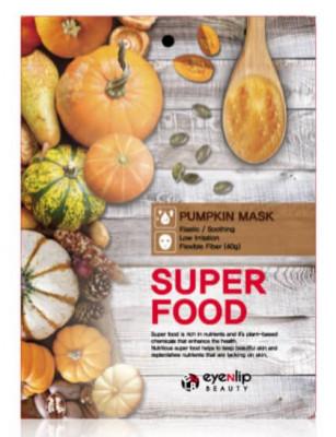 Маска для лица тканевая с тыквой EYENLIP SUPER FOOD PUMPKIN MASK 23мл: фото