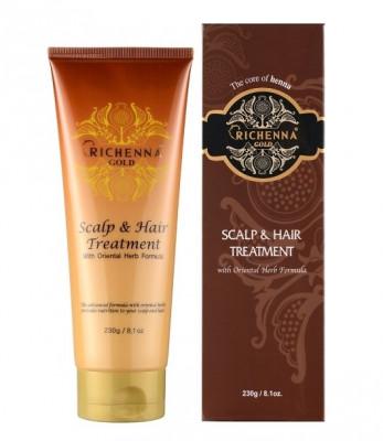 Маска для волос с хной и комплексом восточных трав Richenna Gold Scalp & Hair Treatment 230 г: фото