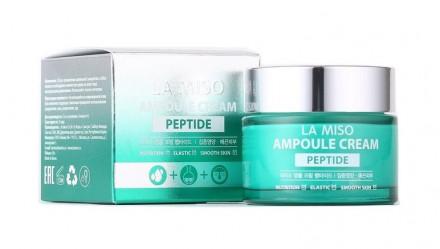 Крем ампульный с пептидами LA MISO Ampoule Cream Peptide 50 г: фото