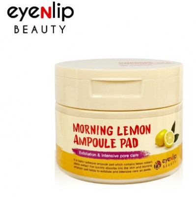 Пады пропитанные эссенцией с лимоном Eyenlip MORNING LEMON AMPOULE PAD 100шт: фото