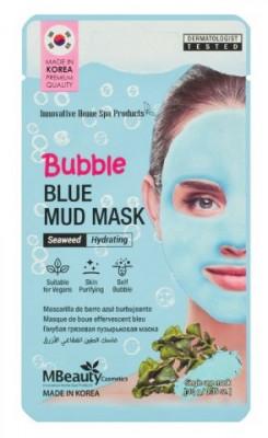 Увлажняющая очищающая пузырьковая маска для лица с глиной и морскими водорослями MBeauty BUBBLE BLUE MUD MASK 10г: фото