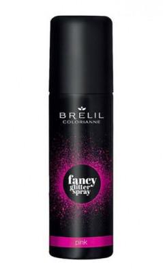 Фантазийный спрей-блеск Brelil Colorianne Fancy Glitter Spray розовый 75мл: фото