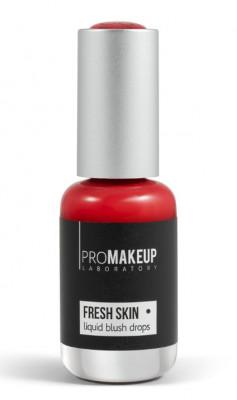 Эмульсионные румяна PROMAKEUP laboratory FRESH SKIN liquid blush drops 06 rich red 8,5мл: фото