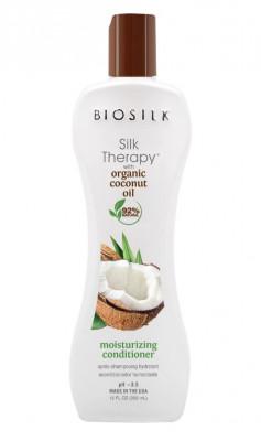 Кондиционер с кокосовым маслом BioSilk Organic Coconut Oil Moisturizing Conditioner 355 мл: фото