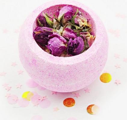 Бомбочка для ванны BOOM SHOP cosmetics Розовая чаша 220 г: фото