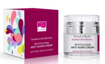 "Крем возрождающий Beauty Style Anti Age plus 24 часа ""Taurine & Resveratrol"" 30 мл: фото"
