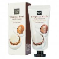 Крем для рук с маслом ши FarmStay Tropical Fruit Hand Cream Moist Full Shea Butter 50 мл: фото