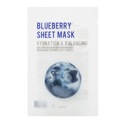 Тканевая маска с экстрактом черники EUNYUL Purity Blueberry Sheet Mask 22мл: фото