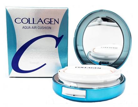 Тональный кушон КОЛЛАГЕН ENOUGH Collagen Aqua Air Cushion SPF50+ PA+++ №21, 15 г: фото