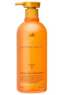 Профессиональный шампунь для тонких волос LADOR DERMATICAL HAIR-LOSS SHAMPOO FOR THIN HAIR 530мл: фото