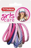 Резинки для волос Titania GIRL 4 см цветные 9 шт: фото