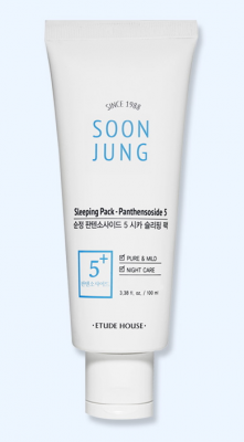 Маска ночная для лица ETUDE HOUSE Soon Jung 5-Panthensoside Cica Sleeping Pack 100мл: фото