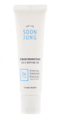 Крем для лица интенсивно увлажняющий ETUDE HOUSE Soon Jung 2x Barrier Intensive Cream 60мл: фото