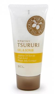 Гель-скраб для удаления черных точек отшелушивающий BCL Tsururi gel & scrub 55г: фото